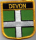 Devon Embroidered Flag Patch, style 07.